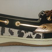 Sperry Top-Sider Angelfish Black Leo Shimmer Ladies